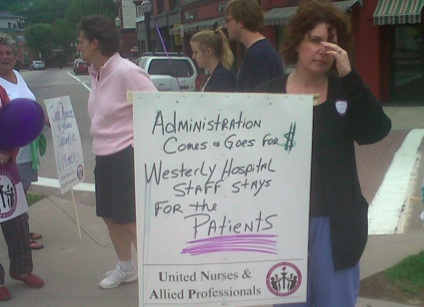 Westerly Hospital UNAP Fights Layoffs